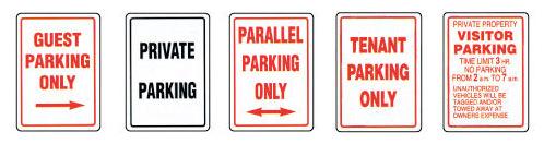 Parking lot signs MCS